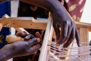 Hands Warping The Loom, Musanze Rwanda Africa