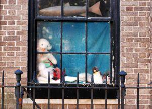 Stuffed Toys in a Window