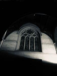 Monastery window b/w