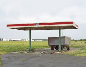"""Station #2, from """"Twentysix Abandoned Gasoline Stations"""" © Eric Tabuchi"""