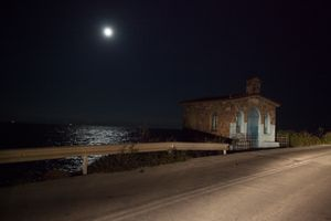 a chapel next to the aegean sea