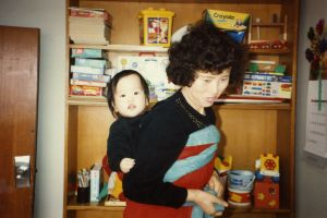 Jami and Her Foster Mother,  Pusan, South Korea, 1993