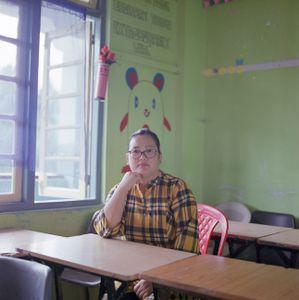 "Jennifer Lepcha, school teacher. From the series ""Homebodies""."