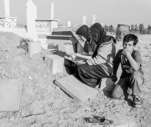 bedouin family in mourning