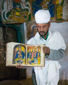 Old bible, Yeha Abuna Aftse church, Yeha, Ethiopia