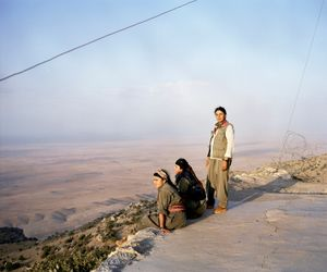 Gulan, 19, Zerya, 18 and Zilan, 17 years old (from left to right). Sinjar, North Iraq.