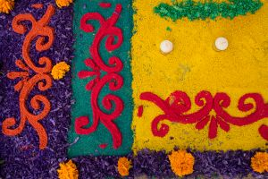 Dyed Sawdust Carpets