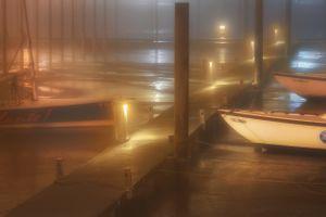 Fog Covered Harbor