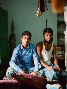 Roommates in their hostel room near the Muslim Insitute.  West Bengal - Kolkata 2017