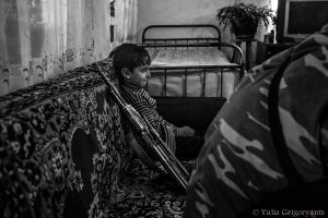 Everyone in the village knows – Armenian soldiers are the only ones who can guarantee their safety.