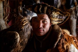 A Kazakh Eagle Hunter from West Mongolia