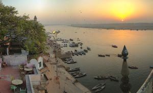 Sunrise in Varanasi from many perspectives.