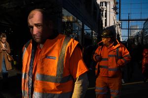 Men with high-vis vests