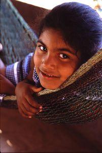 Latina girl in hammock
