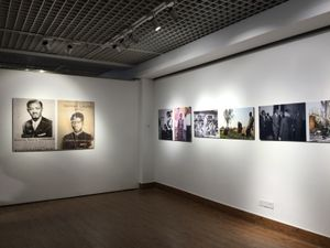 Installation view, Georges Senga. 2nd Changjiang International Biennale of Photography and Video Art. Photo by Bisi Silva