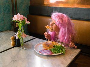 Pink wig little girl #10