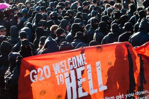 from the serie WELCOME TO HELL - the protest against the G20 Summit in Germnay 2017