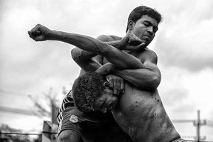 Traditional wrestling, known as Jobbarer Boli Khela, being celebrated on April 25, 2016 in Chittagong's Lal Dighi Moydan, Bangladesh. © MD Tanveer Hassan Rohan, winner in the Sports category.