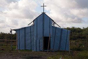 A freshly build Ethiopian church