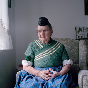 Engel Marie Meier (b. 1921) in her garb for everyday life, Schaumburger Land, Germany, 2010. From the series: Village Queens. The last women in their traditional peasant garbs