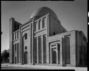 The mausoleum Gonbad-e Harroniyeh, at Tus, Razavi Khorasan Province, Iran 2015.