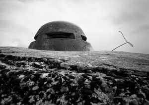 On top of what was believed to be the impenetrable Fort Doaumont near Verdun.