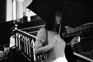 A Girl with her parasol