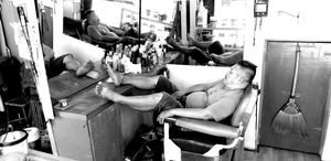 Waiting barber