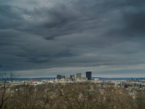 Downtown from Woodland Cemetery