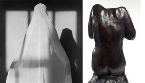 Lisa Lyon, 1982 © Robert Mapplethorpe Foundation. Used by permission. Torse feminin assis sans tete, dit du Victoria and Albert Museum, vers 1910-1914 © Paris, musee Rodin