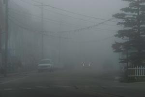 Main Street in Fog