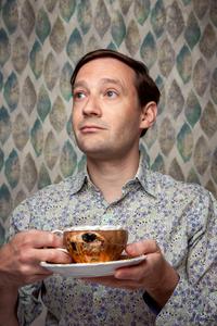 Man with earl grey tea