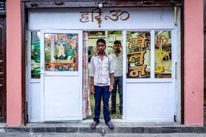 Barber brothers in Nayabasti (Kathmandu)