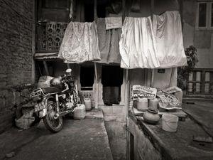 Washing on the line, Kathmandu