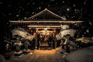 Shrine in the snow