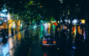 10 Shanghai view on a rainy evening