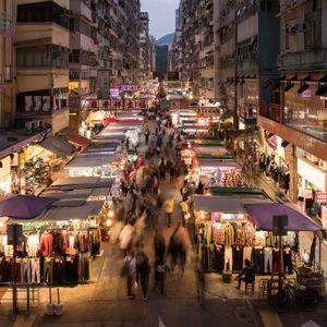 Night market in Hong Kong.