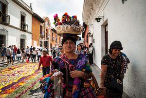 Mujer indígena en Antigua Guatemala
