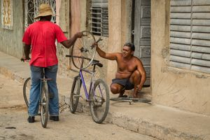Bicycle Repair, Trinidad.