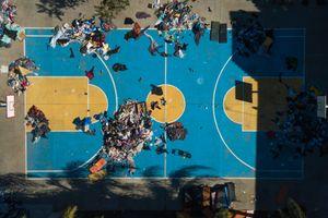 Untitled (Basketball Court at Benito Juárez)