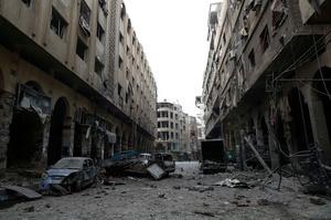 Destructed city of Douma, Syria, 13 December 2015.