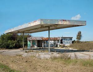 """Station #11, from """"Twentysix Abandoned Gasoline Stations"""" © Eric Tabuchi"""
