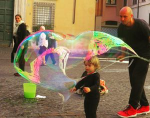 Innocence is a soap bubble