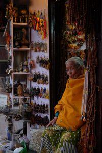 Storekeeper around Boudhanath Stupa, Nepal