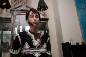 Paul L. at Halloween in Saint Luke's, from Teen Tribe © Martine Fougeron