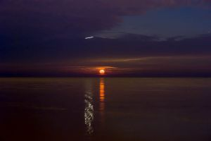 Moonrise and Plane