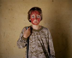 bloodied hunter # V, south africa-from the series 'hunters'-David Chancellor
