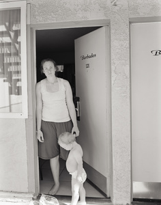 Alison and Emmett, at a Motel in Palm Springs, California