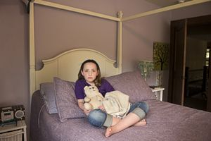 Samantha, Snow Bear and Blanket
