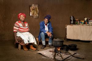 Nanabezi Mgoduswa with his wife Nokwanda - Bizana, South Africa 2015